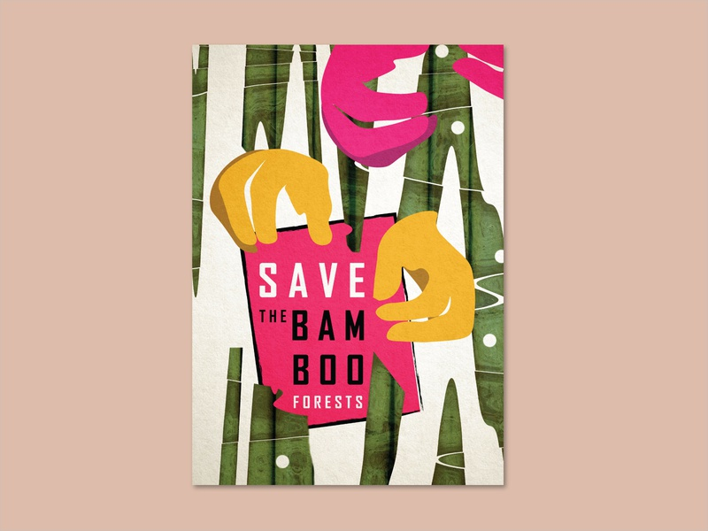 The Bamboo Forest illustrator photoshop forest bamboo poster photo vector design