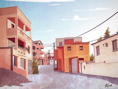 My village illustration