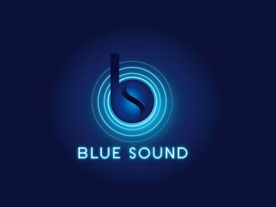 blue sound icon typography ux design