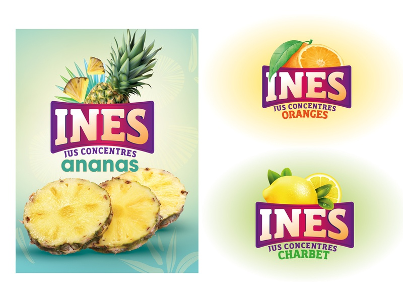 logo pour jus de fruits web ux typography design illustration