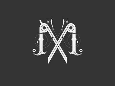 Double M letters, barbershop logo hairdresser mlogo letters lettermark logo barbershop logo barbershop design barber