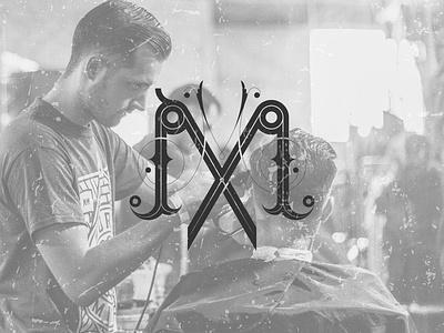 Double M Vintage Monogram Behance 10 branding barbershop logo hairdresser lettermark letter mlogo logo design barber