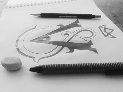 VS monogram drawing sketch sketching مونوگرام لوگو luxury logo luxurious luxury logodesign slogo vlogo vslogo monogram logo
