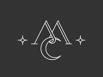 Mahta Collection Logo serif star مونوگرام لوگو logo design mahta mclogo minimal lettermark letter moonlogo moon clogo mlogo monogram logos