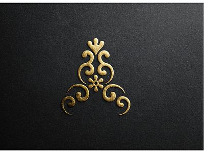 Avin Collection design texture fashion women golden gold lettermark لوگو logo monogram