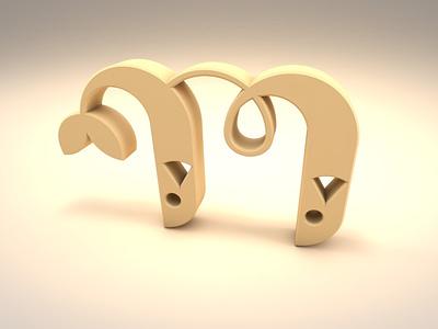 Mahi logo in 3d 3dlogo 3d cinema4d c4d graphic lettermark لوگو monogram mlogo logo