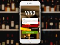 Vino App - Login Screen