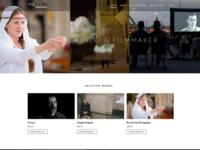 Film maker & visual artist website concept