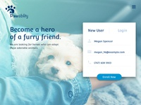 Pawsibility   Landing Page  Above The Fold