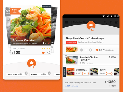 Food Discovery and Delivery App interaction design ui design ux design mobile app food discovery food delivery