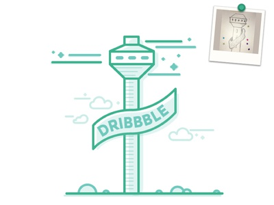 Dribbble Meetup Tribute - Winner #3 illustration lineart doodle ahmedabad tribute dribbblemeetup