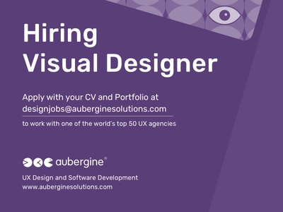 We are Hiring Visual Designer!