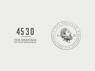 45 30 - Our Heritage logo identity branding clothing