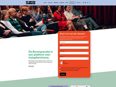 De Bovengrondse website activism feminism webdesign