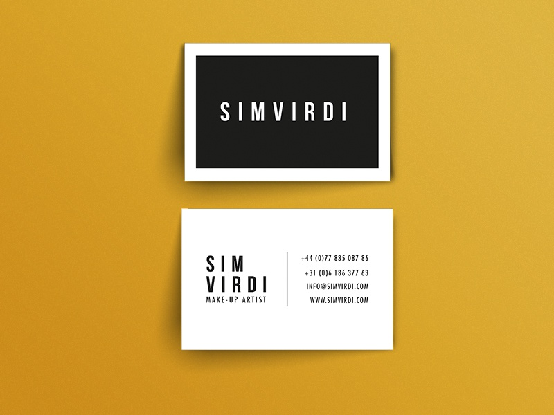 Sim Virdi Mua Business Card By Chris Wormhoudt Dribbble Dribbble