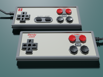 Nostalgia gamepad dendy 3d artist 3d art cute 3d lowpoly