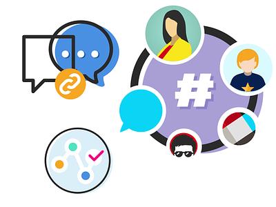 Chat icon exploration slack channels dms chat
