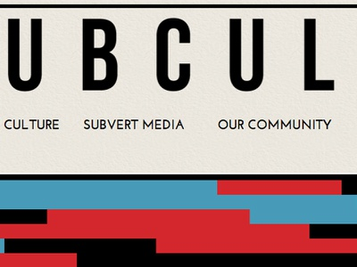 Subculture Preview header nav web design