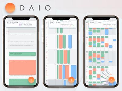 DAIO - A smart calendar ux design productivity to-do tasks calendar