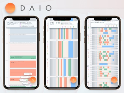 DAIO - The Smart Calendar ux design calendar app calendar