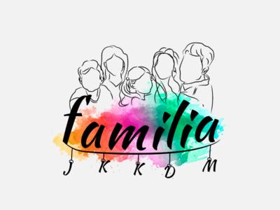 Diseño familia para tattoo - Ilustración. familia tatuaje tattoo diseño gráfico illustrator ilustración design desing graphic arte digital art digital
