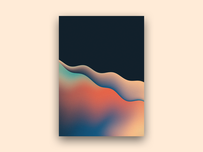 Organic Gradient Shapes abstract design colours waves shapes gradient
