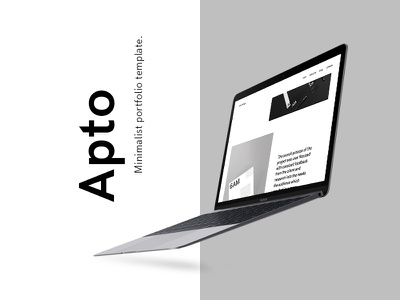 Apto - Minimalist Portfolio Template - D&AD 2017 New Blood designer portfolio interaction ui animation ux design ui design dad minimal web design