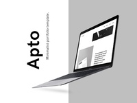 Apto - Minimalist Portfolio Template - D&AD 2017 New Blood