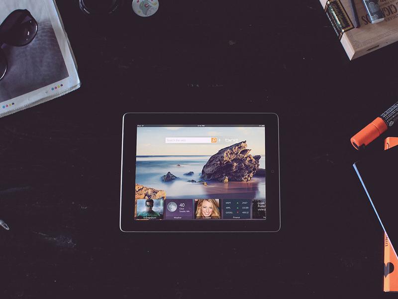 Bing App design bing graphic design cover ipad