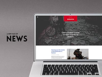 Dispatch design news graphic ux ui bold vision mac web