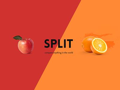 Split ux ui design compare graphic split