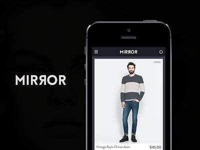 Mirror design app iphone mirror ux ui fashion clothing modern