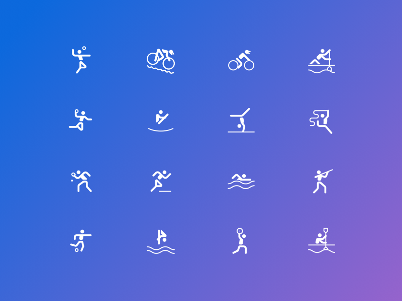Sport Icons Bing Rio Games Experience olympics rio games bing icons sports