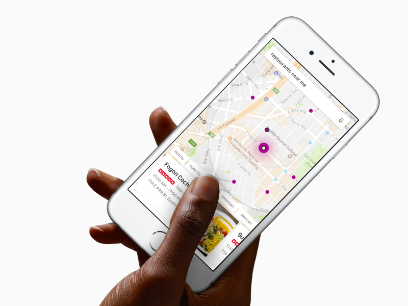 Searching Restaurants cards entities iphone restaurants maps local