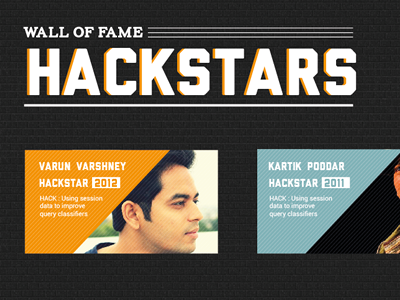 Hackstar wall of fame hackstar texture modern typography liberator type user experience