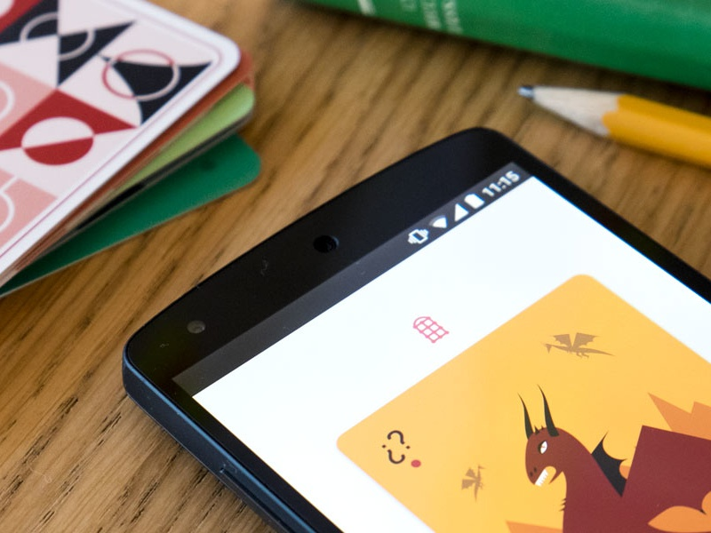 Planning Time Android App dragon illustration scrum poker planning android app cards