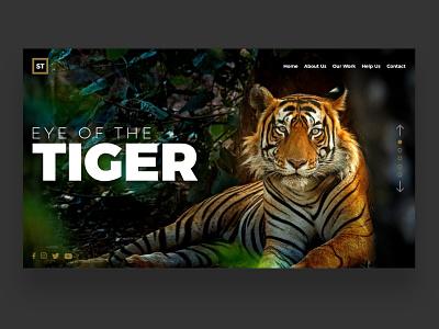 Web UI Inspiration - N. 1 - Save Tigers hero image hero section landing landing page uiuxweb uiwebdesign uiux webinspiration inspiration webpage minimal art website ui ux typography logo branding design illustration