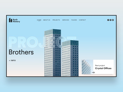 Web UI Inspiration - N. 2 - Architecture offices buildings architect architechture developers developement web design website website design ui design uidesign landing page landing inspiration illustration hero section hero image design branding
