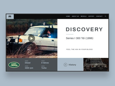 Web UI Inspiration - N. 5 - Land Rover ui design 4x4 discovery webcars cars automotive landrover uxdesign uidesign logo landing page landing inspiration illustration hero section hero image design branding art