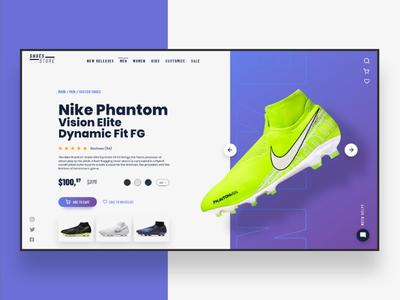Web UI Inspiration - N. 10 - Shoes Store product page hero section landing page landing web uxdesign uidesign development web programmer commerce e-commerce football soccer nike shoes inspiration ui webdesign