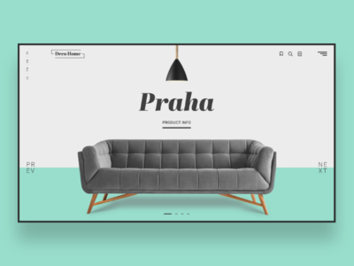 Web UI Inspiration - N. 11 - Deco Home interior layout programming shopping shop buy sale praga couch illustrator photoshop xd adobe e-commerce deco decoration inspiration landing web design