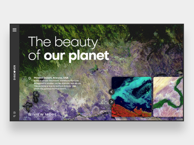 Web UI Inspiration - N. 13 - Discover earth view inspirational web design homepage landing page uxdesign uidesign uiuxdesign website