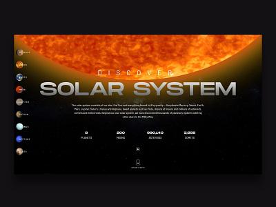 Web Inspiration - N. 18 - Discover Solar System site concept space galaxy nasa web site wep app web development web programming solar system ui design website web design landing inspiration landing page
