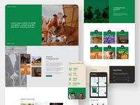 Website UI/UX Prototype - Maison Thiargane adobe photoshop adobe xd ui deisgn uiux uidesign branding ui design landing website web design landing page