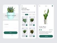 UI UX Inspiration - N. 21 - Plant Shop ui app design indoor plant decoration plant plants application app design app uiux design uiuxdesign ui design