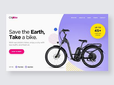 Web UI Inspiration - N. 22 - City Bike ui ux ui design web inspiration css3 html5 rent bike bikes landing page web design