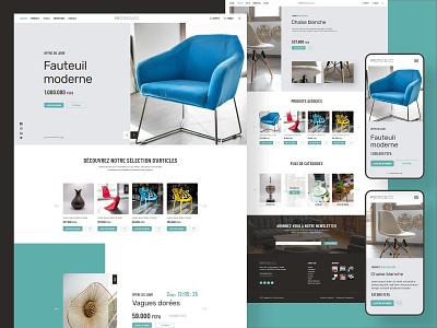 Website UI/UX Prototype - Prestige Deco decorate prestige minimalism elegant design prototype decoration furniture store furniture ui design web design