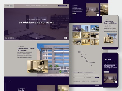 Website UI/UX Prototype - Luxury Living senegal dakar homepage property real state luxury inspiration branding uxdesign design uidesign website web design ui design