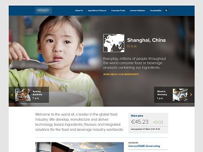 Landing Page web slideshow global homepage big image ui