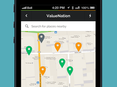 Map View ui app map search ios pin icons mobile
